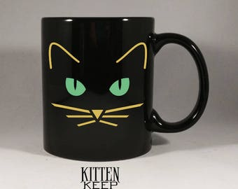 Black Cat Coffee Mug | Cat Lover | Cat Appreciation