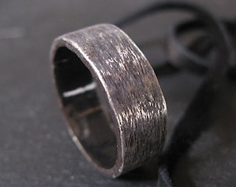 Mens Wedding Band Oxidized Sterling Silver Wedding Ring Mens Wedding Ring Unique Mens Wedding Band Viking Wedding Ring Mens Wedding Bands