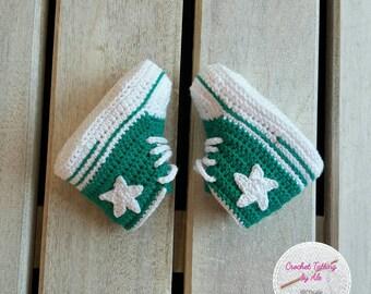 converse neonato 0 a 6 mesi bianche