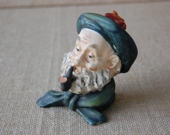Vintage Pipe Smoker Porcelain Figure, English Pipe Smoker, Scottish Pipe Smoker
