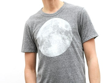 men's MOON heather grey SHIRT super SOFT t-shirt