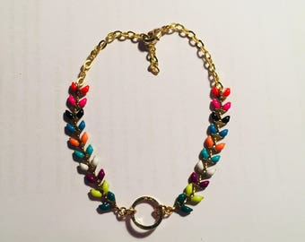 Gold and multicolor bracelet