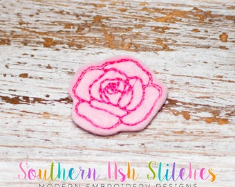 Rose Feltie Embroidery Digital Download
