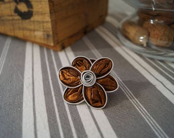 Ring Nespresso small brown flower