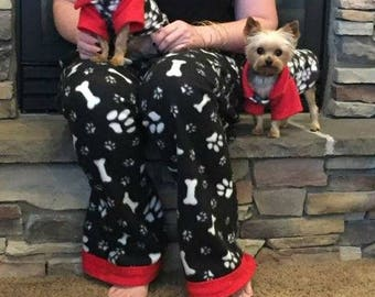 Matching dog pajamas