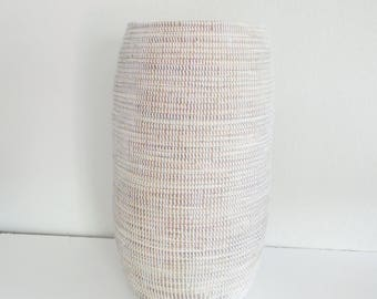 Tall White Umbrella Holder, Yoga Mat Holder, Schirmständer, Modern Basket,Elegant Home Decor,Tall Slim basket