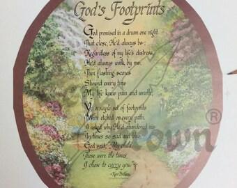 "Ken Brown Calligraphy ""God's Footprint"""