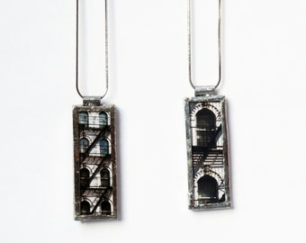 FIRE ESCAPE PENDANT -  East Village Tenement Pendant