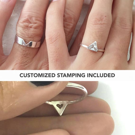 Matching Promise Rings His and Her Promise Rings Promise