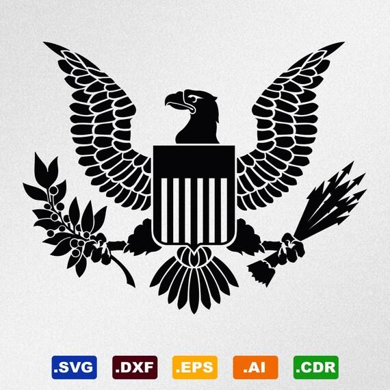 American Eagle Great Seal Symbol Emblem Coat Of Arms Svg Dxf