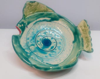 Ceramic bowl fish.