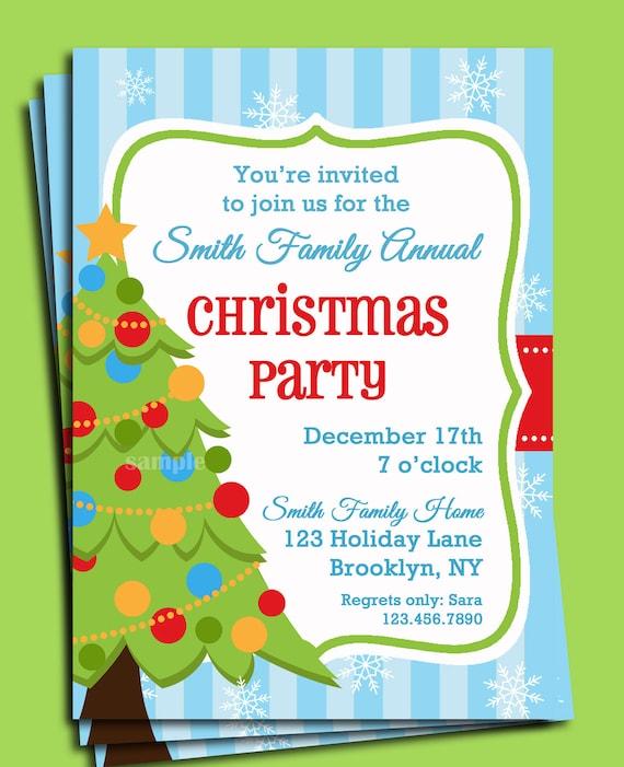 Christmas party invitation printable christmas tree in snow like this item stopboris Gallery