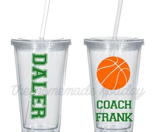 Basketball coach tumbler, coaches gift, basketball coach gift
