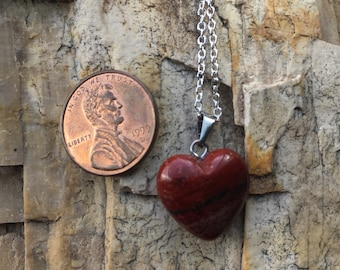 Jasper Heart Pendant Charged with Reiki