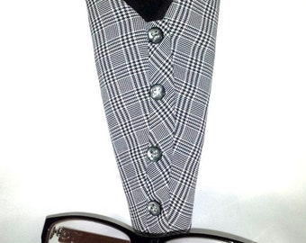 Houndstooth Print Eyeglasses Case