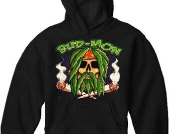 Pot Head & Stoner Sweatshirts - Bud Mon Hoodie - #10751
