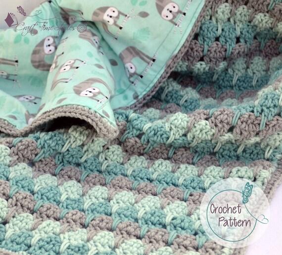 Sloth crochet baby blanket pattern reversible baby blanket