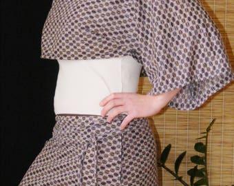 Crop top kimono sleeves and skirt set