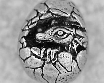 Green Girl Studios Dragon Baby Pewter Bead