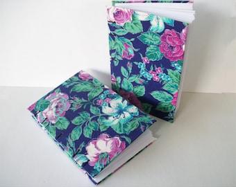 Fleur bordé d'argent couvert pour ordinateur portable, Bullet Journal, plat copte livre relié, couverture rigide avec des Roses et des feuilles en tissu fleuri livre couvert