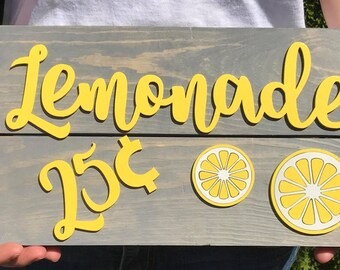 Lemonade sign, Lemonade stand, Summer sign, Yard sign, Bar sign, Drink sign, Drink your lemonade, backyard summer, Photo Prop
