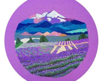 Lavender Fields Embroidery PDF Pattern
