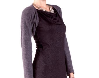Black Bolero Shrug / Charcoal Bolero / Wedding Bolero Jackets / Soft Feel Lightweight / Spring Clothing