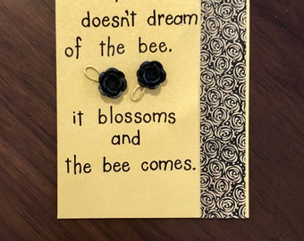 Flower and Bee, card