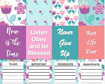 PRINTABLE JW Planner Stickers, teal and purple stickers, JW, instant download, digital download, best life ever