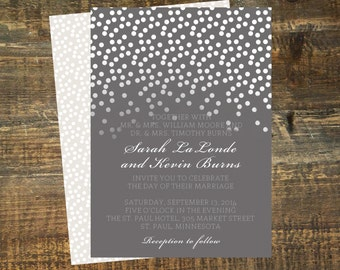 Wedding Invitation Photoshop Template - Diamond Sky