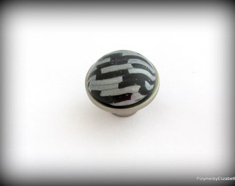 Cabinet Knobs, Drawer Knobs, Black and Silver Knobs or Pulls, Unique cabinet Knobs