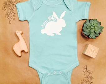 Snuggle Bunny Bodysuit, Rabbit, Easter, Silly, Cute, Funny Onesie, Puns, Clothes, Modern, Hipster Baby, Newborn, Love, Baby Bear, Cuddle