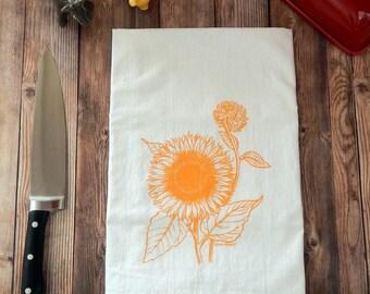 Sunflower Flour Sack Tea Towel