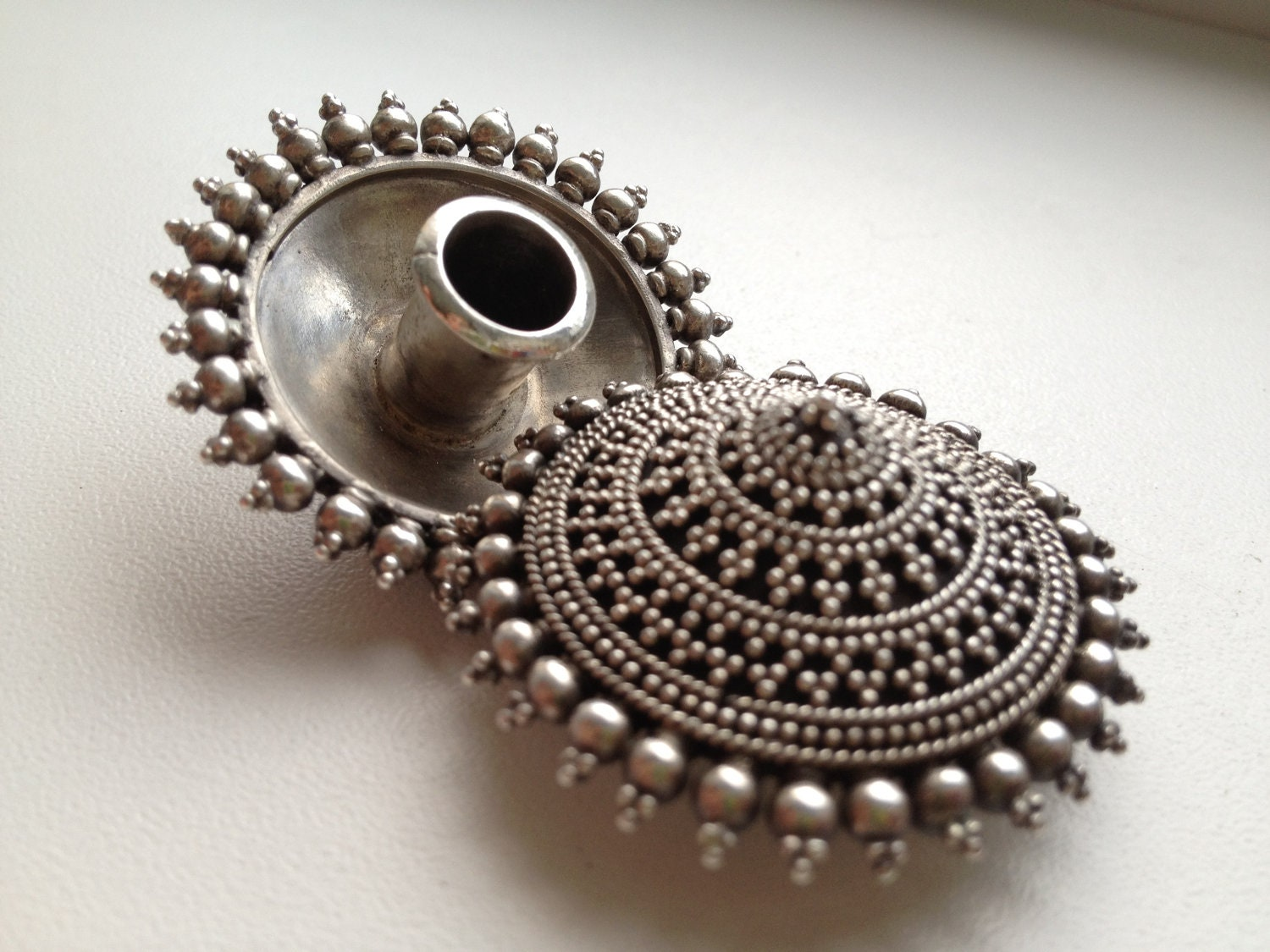 sindhi silver and from mainly earrings indian rajasthani old pin bunda muslim by rajasthan jewelry called worn india