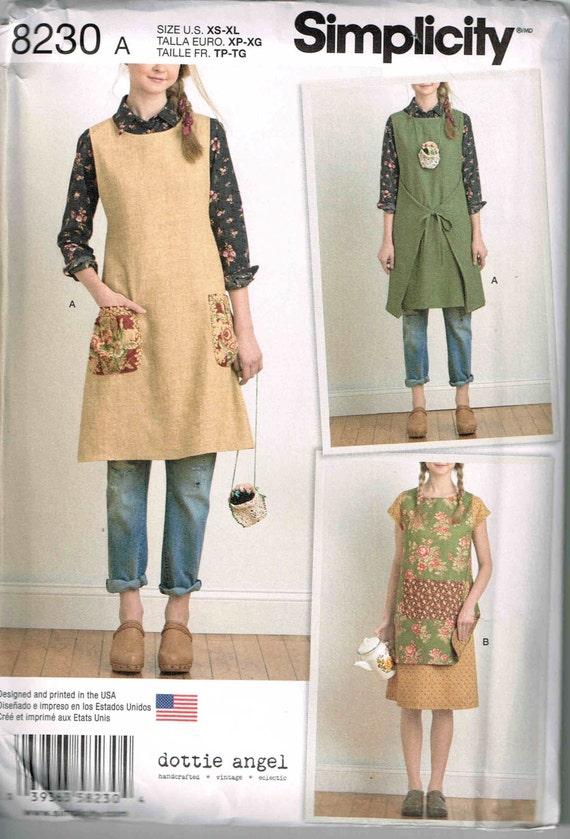 Sewing Pattern Tunic Dress Tabard Boho Granny Chic Simplicity 8230 ...