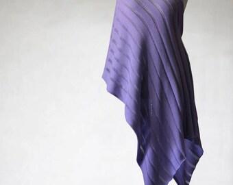 Knit shawl, knit scarf, women's scarf, lavender scarf, women's shawl, cotton scarf, shawl wrap, wedding scarf, bridal shawl, cotton shawl