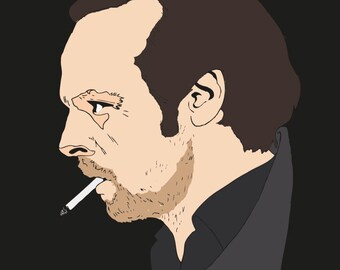 Simon Pegg from The World's End original illustration art print