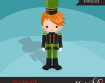 Nutcracker Clipart, Christmas graphics, Toy Soldier illustration, cute character, boy, commercial use, scrapbooking, embroidery, card making