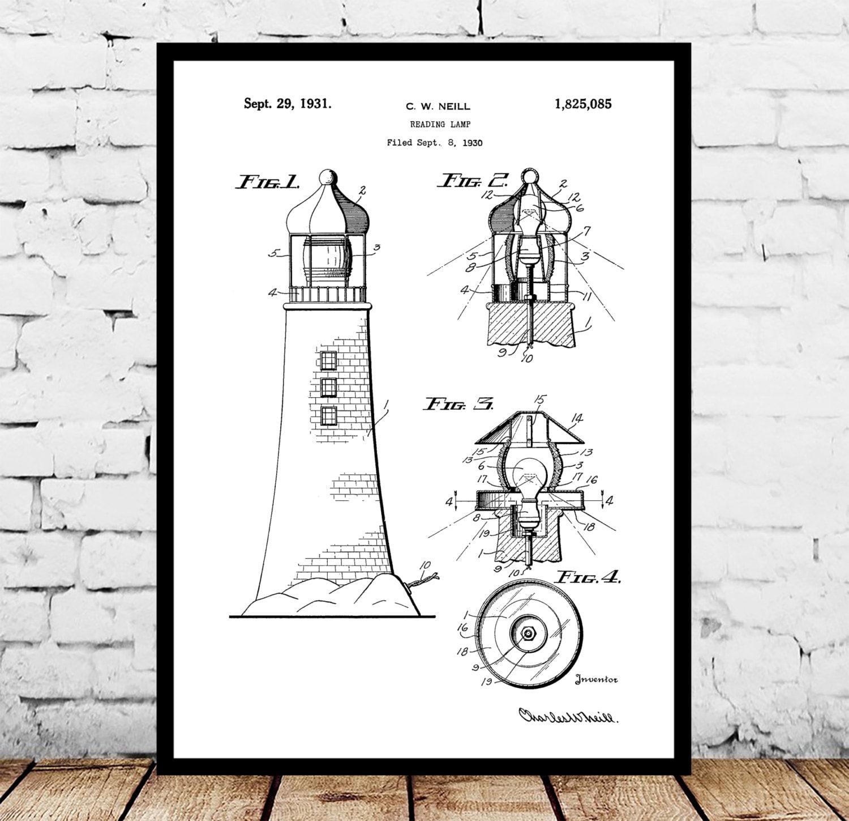 Lighthouse patent lighthouse poster lighthouse blueprint lighthouse patent lighthouse poster lighthouse blueprint lighthouse print lighthouse art lighthouse decor malvernweather Images