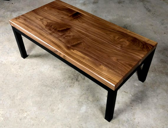 SALE! Parson's Style Walnut Coffee Table
