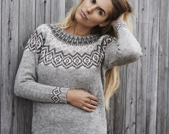 Knitting Jumper Pattern : Striped raglan pullover sweater pdf knitting pattern