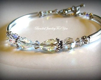 Bridesmaid Bracelet: Wedding Jewelry, Anniversary Bracelet, Bridesmaid Jewelry, Mother of Bride Jewelry, Gift for Her, Bridal Party Gift