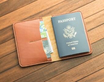 Chestnut Handmade Leather Passport Cover