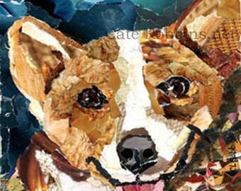 Custom Pet Portrait Torn Paper Collage