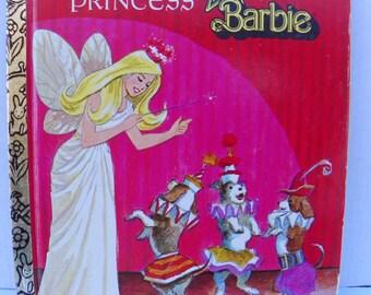 1977 Little Golden Book #162  Superstar Barbie - The Fairy Princess , Vintage Children's Picture Book , Bedtime Story , Barbie Story Book