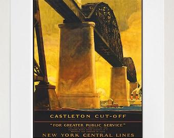 Bridge Art Print New York Travel Poster (TR97)