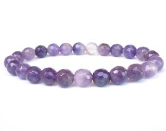 Amethyst bracelet, Gemstone bracelet, Women bracelet, Gift for Her, Amethyst beaded bracelet, Layering bracelet, Stone bracelet