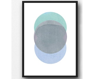 Abstract Watercolor Print, Abstract Minimal Art, Minimalist Art , Scandinavian Design, Modern Home Decor