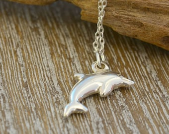 Dolphin Necklace, Dolphin Jewellery, Sterling Silver Necklace, Dainty Necklace, Spirit Animal Necklace, Niece Gift, Nature Jewellery