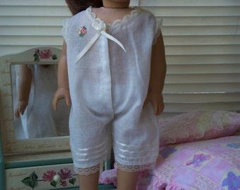 Handmade Doll Clothes One Piece Pajama fits 18 inch dolls, Handmade Doll Pijamas, Handmade dresses by WhisperingOak